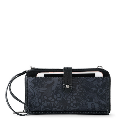 Sakroots Large Smartphone Crossbody Black