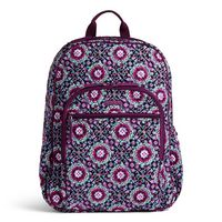 Vera Bradley Campus Tech Backpack Lilac Medallion