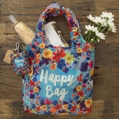 Natural Life Foldup Shopping Bag Happy Bag