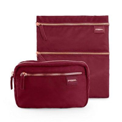 Poppin Fanny Pack and Zip Zip Zip Pouch, Wine