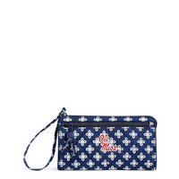 Vera Bradley University of Mississippi Front Zip Wristlet