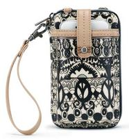 Sakroots Smartphone Wristlet Black and White One World