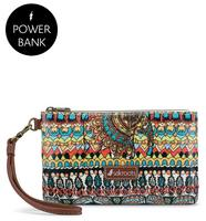 Sakroots Charging Wristlet Natural One World
