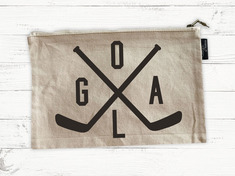 RUBYS RUBBISH Hockey Goals, Natural Canvas, Pencil Pouch