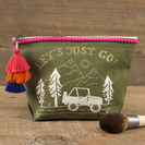 Natural Life Canvas Pouch Lets Just Go!