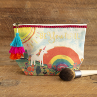 Natural Life Canvas Pouch Unicorn BeYouTiful