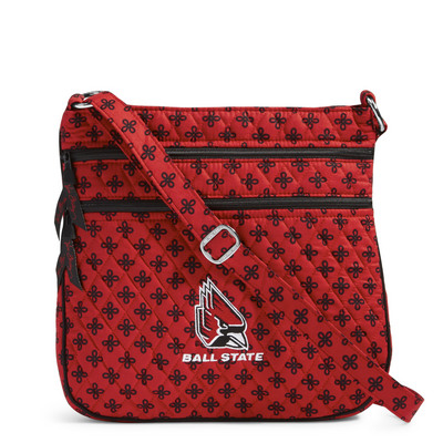 Vera Bradley Ball State University Triple Zip Hipster