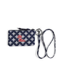 Vera Bradley University of Mississippi Zip ID Lanyard