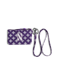 Vera Bradley Northwestern University Zip ID Lanyard