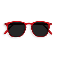 Sunglasses #E Red Crystal Grey Lenses 0.00