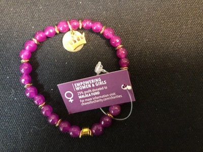 Chavez for Charity Game On Collection Bracelet Malala Fund