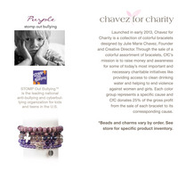 Chavez for Charity  Stomp Out Bullying Bracelet