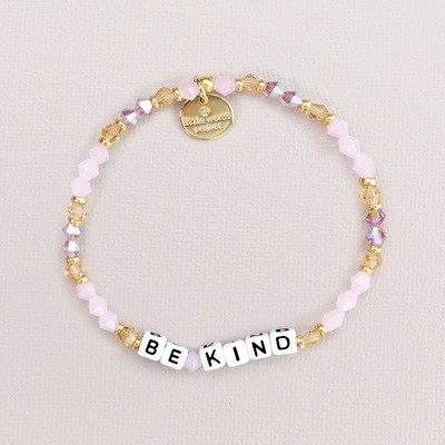 Crystal White Be Kind Bracelet