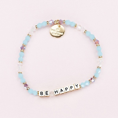 Crystal Gold Be Happy Bracelet