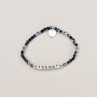 Crystal Silver Strength Bracelet