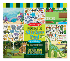Melissa and Doug Reusable Sticker Pad , Habitats