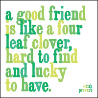quotable magnet  3.5 inch square  a good friend is like a four leaf clover