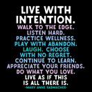 live with intention magnet