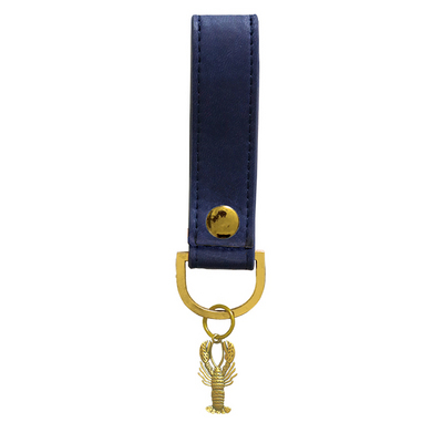 Midnight Blue Lobster Luxury Soft Touch Key Chain