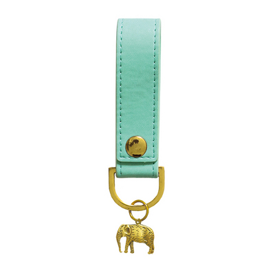 Mint Elephant Luxury Soft Touch Key Chain