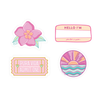 Sweet Girl Stickers  4 Pack
