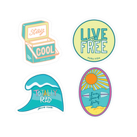 Surfer Girl Stickers  4 Pack