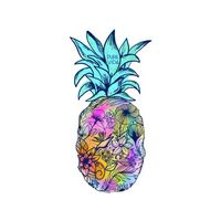 Floral Pineapple Stickers