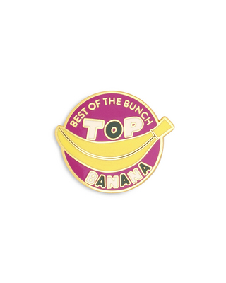 BANDO ENAMEL PIN, TOP BANANA