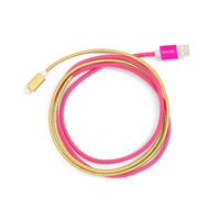 Bando Back me up! charging cord, pink and gold