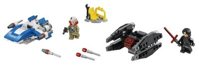 LEGO  Star Wars  tm  A Wing tm vs. TIE Silencer tm Microfighters 75196