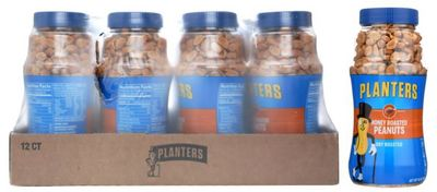 Planters Honey Roasted Peanuts, 16oz (Pack of 12)