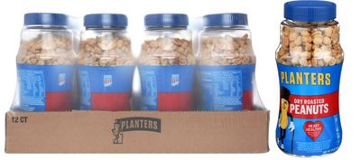 Planters Dry Roasted Nuts, 16oz (Pack of 12)
