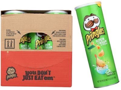 Pringles Sour Cream & Onion, 5.57oz (Pack of 14)