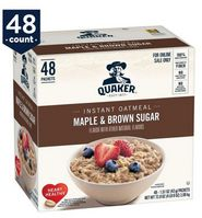 Quaker Instant Brown Sugar & Maple Oatmeal, 1.5oz (case of 48)