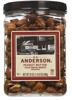 Anderson Bakery Peanut Butter Pretzel Nuggets Big Bag, 24oz (Pack of 8)