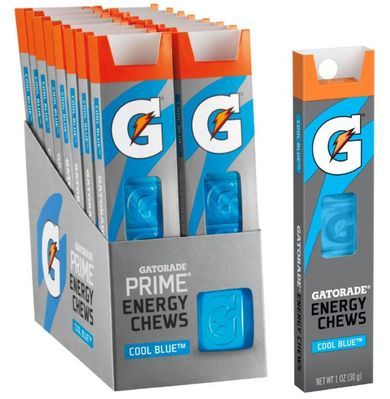 Gatorade Prime Energy Chews, Cool Blast, 10z( Pack of 16)