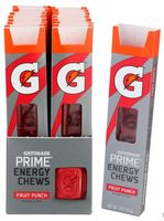 Gatorade Prime Energy Chews, Fruit Punch, 1oz (Pack of 16)