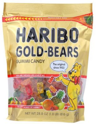 Haribo Gold Bears, 28.8oz bag (Pack of 6)