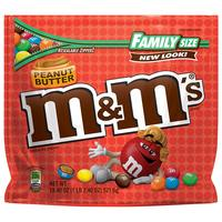 M&Ms Peanut Butter Family Size, 18.4oz (Pack of 8)