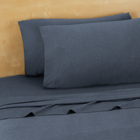 Twin, Twin Extra Long Jersey Sheets, Denim