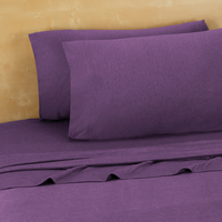Twin, Twin Extra Long Jersey Sheets, Purple