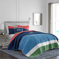 Southern Tide Sailor Stripe FullQueen Multi Quilt