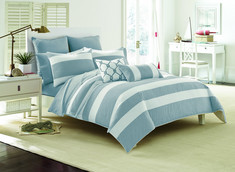 Southern Tide Breakwater Full, Queen Nautical Navy Comforter Set