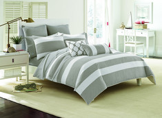 Southern Tide Breakwater Full, Queen Nautical Grey Comforter Set