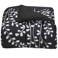 Reversible Vines Comforter, Black & White