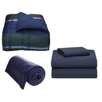 Navy Hampton Bedding Bundle