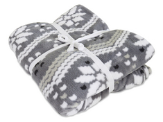 Cozy Fleece Blanket, Grey