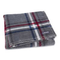 IZOD Kensington Plush Throw