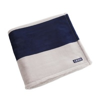 IZOD Rugby Stripe Plush Throw