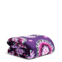 Vera Bradley Throw Blanket Lilac Medallion